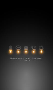 ORANGE BLACK LIGHT ICON THEME 画像(1)