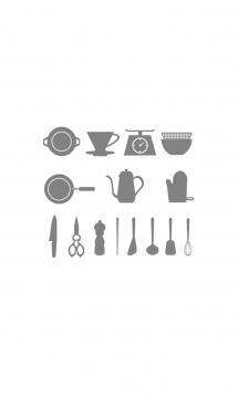 キッチンツールのイラストの着せ替え 画像(1)