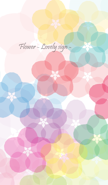 Flower - Lovely sign -の画像(表紙)