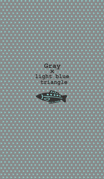 Gray×light blue triangleの画像(表紙)