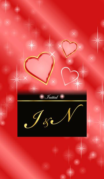 I&N イニシャル 恋愛運UP!赤×ハートの画像(表紙)