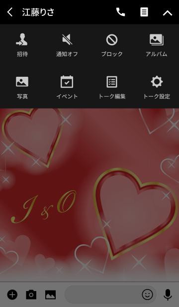I&O イニシャル 恋愛運UP!赤×ハートの画像(タイムライン)