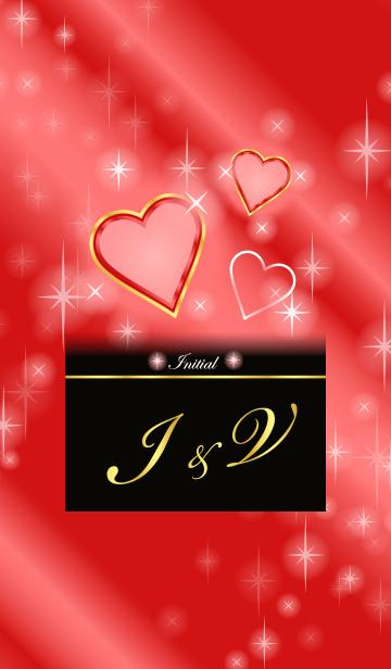 I&V イニシャル 恋愛運UP!赤×ハートの画像(表紙)