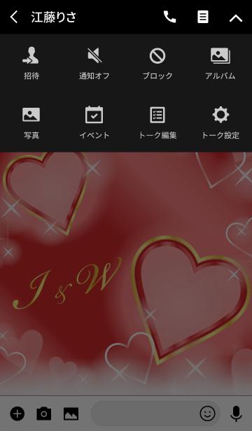 I&W イニシャル 恋愛運UP!赤×ハートの画像(タイムライン)