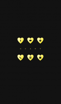 YELLOW HEART -black- 画像(1)