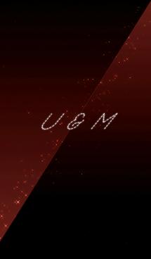 U & M -イニシャル-クールな赤と黒- 画像(1)