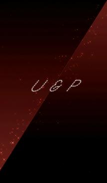 U & P -イニシャル-クールな赤と黒- 画像(1)