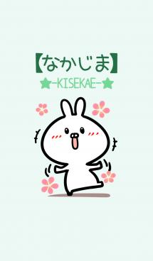 【なかじま】のかわいいウサギ(グリーン) 画像(1)