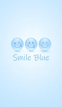 Happy Smile Blue Icon 画像(1)