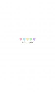 カラフル♡パステルカラーとハート 画像(1)