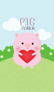 Poklok Cute Pig Theme (jp) 画像(1)