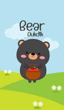 Lovely Black Bear Duk Dik Theme (jp) 画像(1)