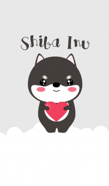 Simple Cute Black Shiba Inu V.2 (jp) 画像(1)