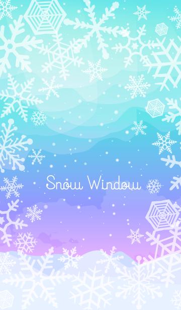 [LINE着せかえ] 雪の窓 6の画像