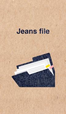 クラフト紙とジーンズ柄のファイル 画像(1)