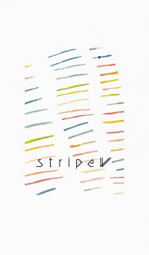 手書き ストライプ 白背景 画像(1)