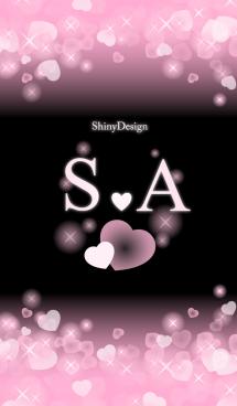 S&A イニシャル 運気UP!ピンクハート 画像(1)