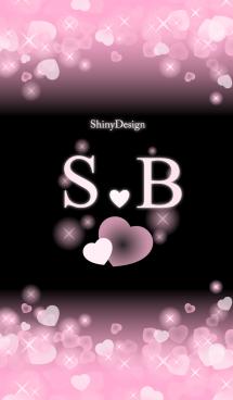 S&B イニシャル 運気UP!ピンクハート 画像(1)