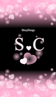 S&C イニシャル 運気UP!ピンクハート 画像(1)