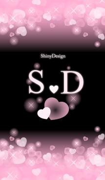 S&Dイニシャル 運気UP!ピンクハート 画像(1)