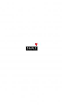 シンプル。白。ハート。黒。 画像(1)