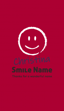 Smile Name Christina