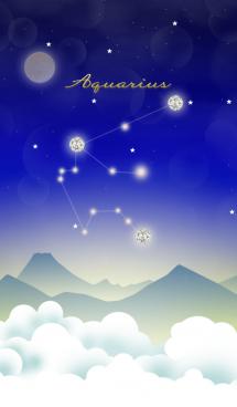 水瓶座の星夜空