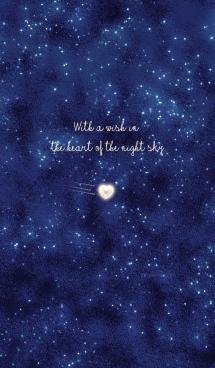 夜空のハートに願いをこめて