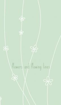 花と流線*淡緑 画像(1)
