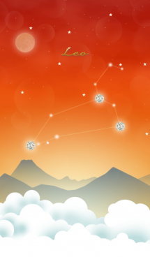 獅子座の星夜空 画像(1)