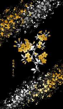 蒔絵風さくら 画像(1)