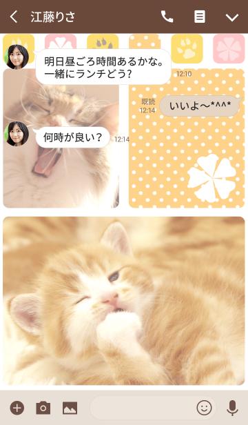 癒し子猫♪あくびにゃんこの画像(トーク画面)