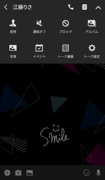 スマイル-黒カラフル三角16-の画像(タイムライン)