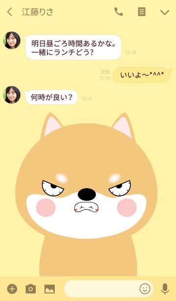 Angry Shiba Inu Face Theme (jp)の画像(トーク画面)