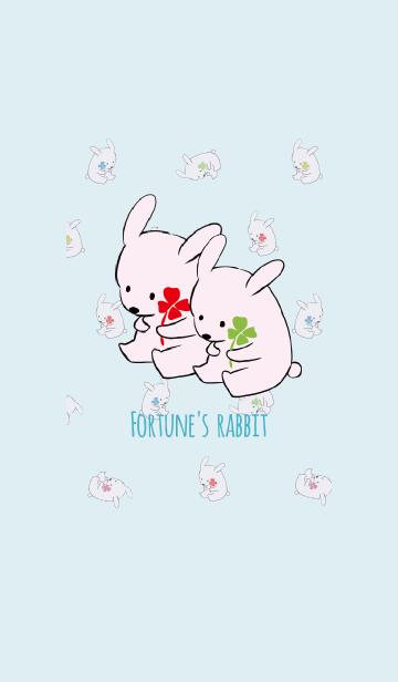 ブルー 青 / 風水 全幸運のウサギの画像(表紙)