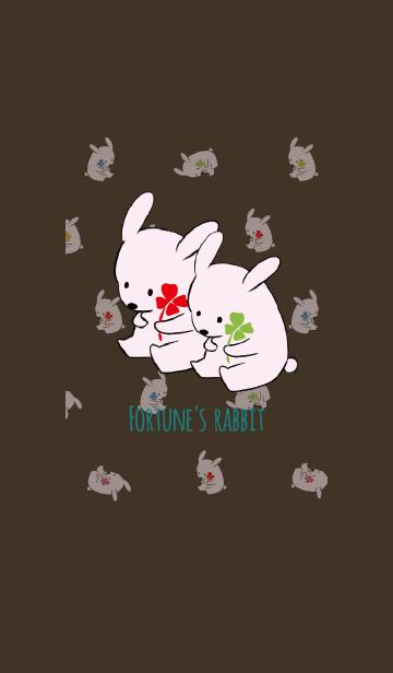 ブラウン&グリーン / 風水 全幸運のウサギの画像(表紙)