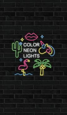 Color neon lights JP 画像(1)