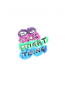 "Simple Pop Art ""DO THE RIGHT THING"" 画像(1)"