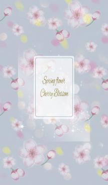 ベージュ&ブルー / オトナ可愛い 春の桜 画像(1)