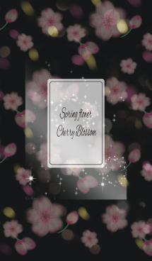 ブラック&ホワイト / オトナ可愛い 春の桜 画像(1)