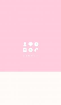 シンプル(beige pink))V.186