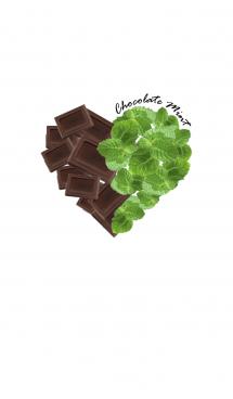 Chocolate Mint Heart