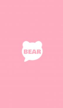 くま×シンプル【ピンク×ホワイト】