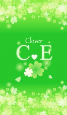 C&Eイニシャル運気UP!幸せのクローバー緑