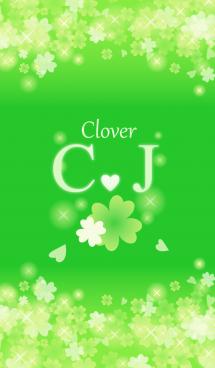 C&Jイニシャル運気UP!幸せのクローバー緑