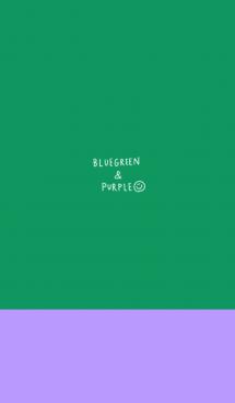 ブルーグリーンとパープル 画像(1)
