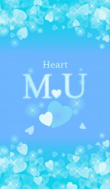 M&Uイニシャル運気UP!幸せのハート青ブルー
