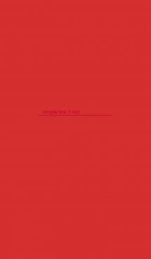 シンプル ライン 3 レッド