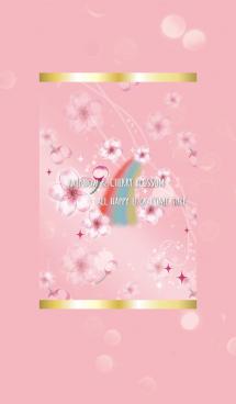 ピンク / 運気UP 桜と虹 画像(1)