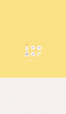 シンプル(beige yellow))V.182 画像(1)